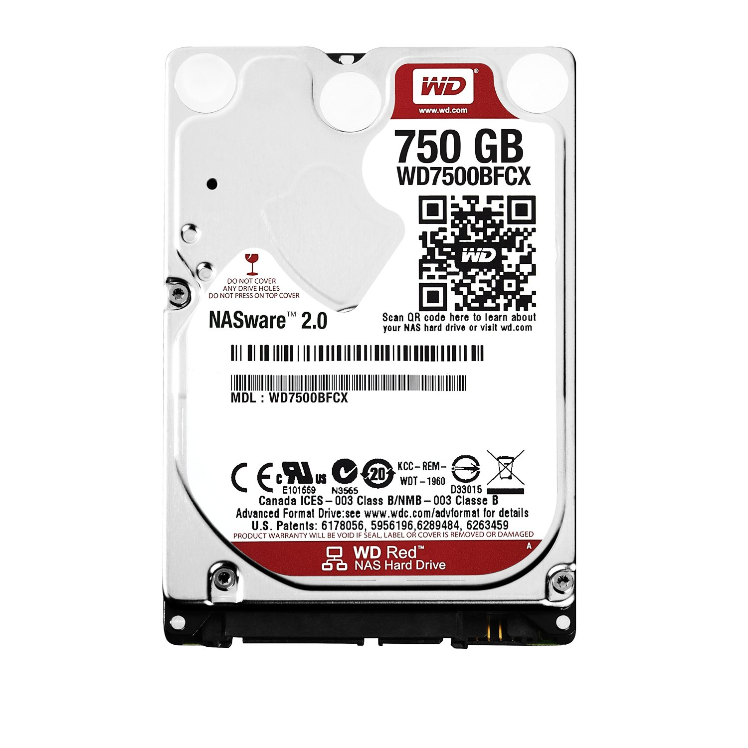 "Western Digital WD7500BFCX HDD 2,5"", 750GB, 16MB, SATA3, Nero"