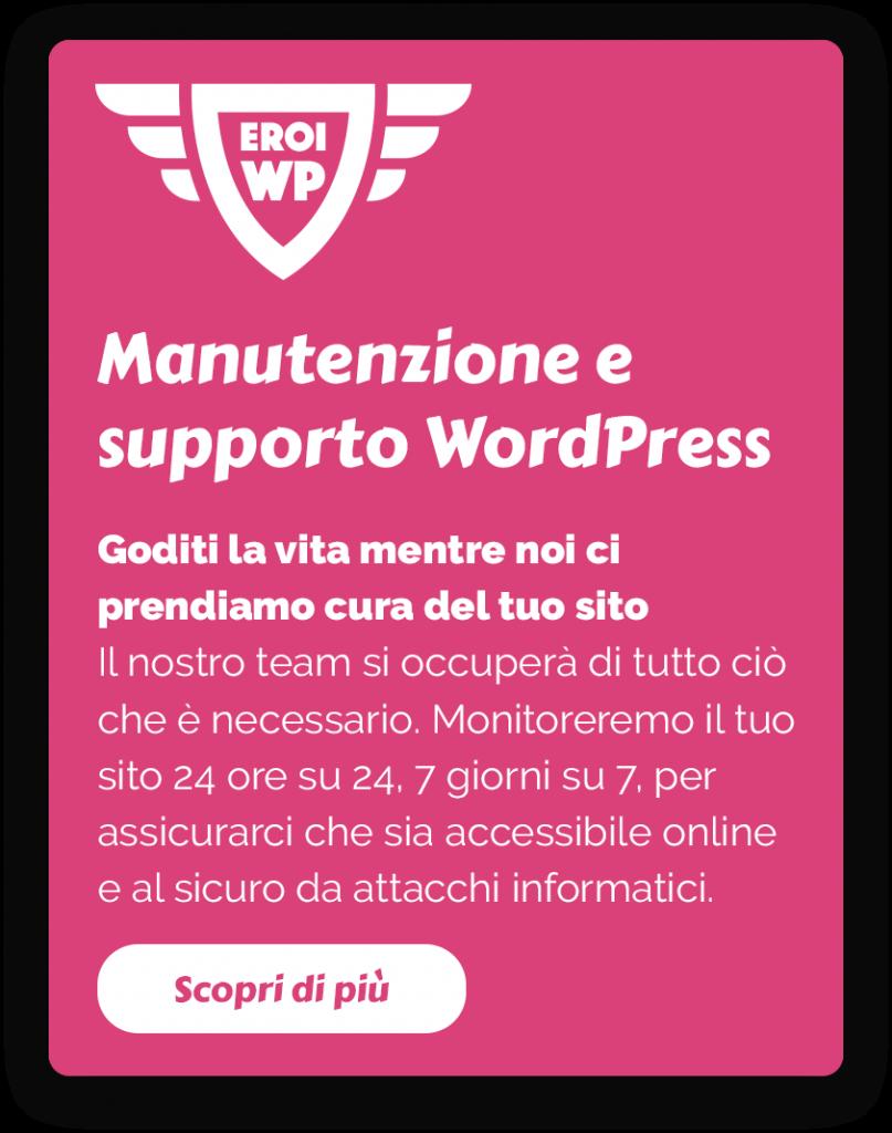 eroi wp manutenzione siti web